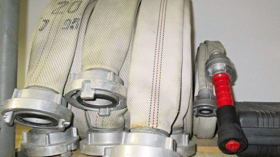 Detail vybavení hasičů