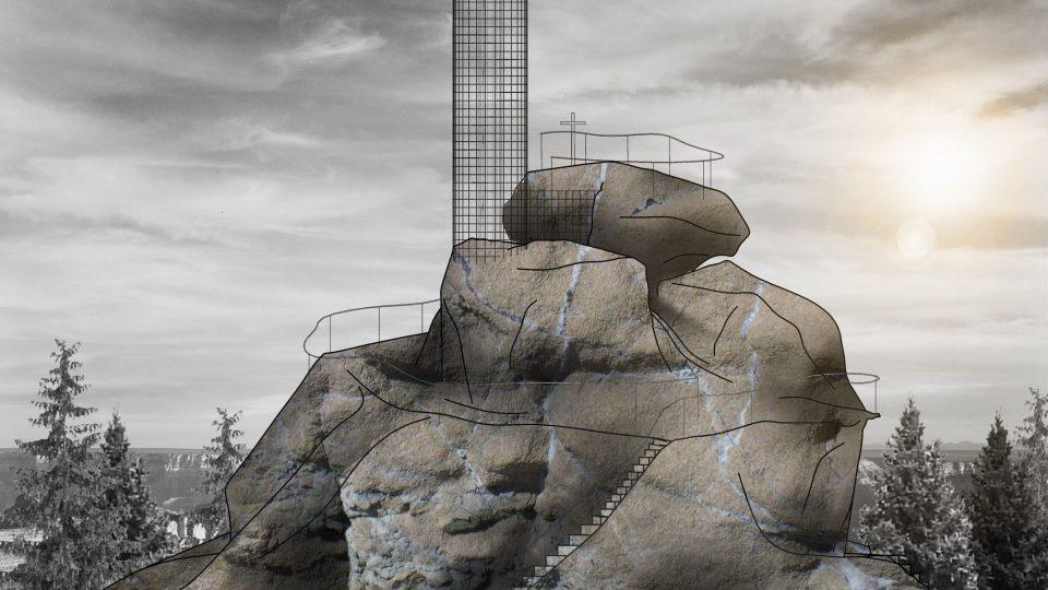 Rozhledna na Finksteinu nad Smržovkou – návrh Architekti Mjölk