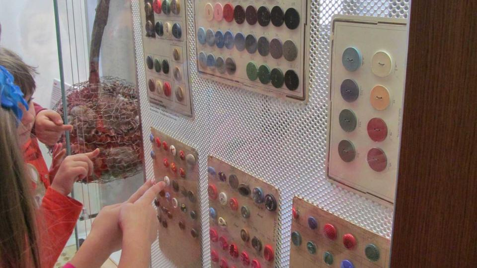 Knoflíky v muzeu