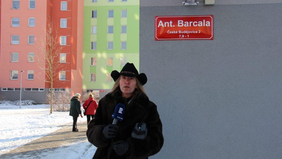 Ulice Antonína Barcala na sídlišti Máj v Českých Budějovicích