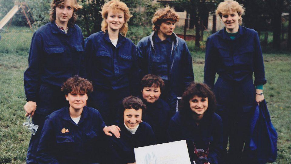 První družstvo žen, okrsková soutěž, Kerhartice (1984)