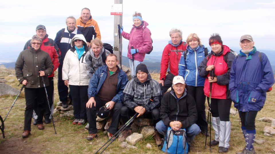 Setkání na Kralickém Sněžníku se stražaky z Polska (2012)