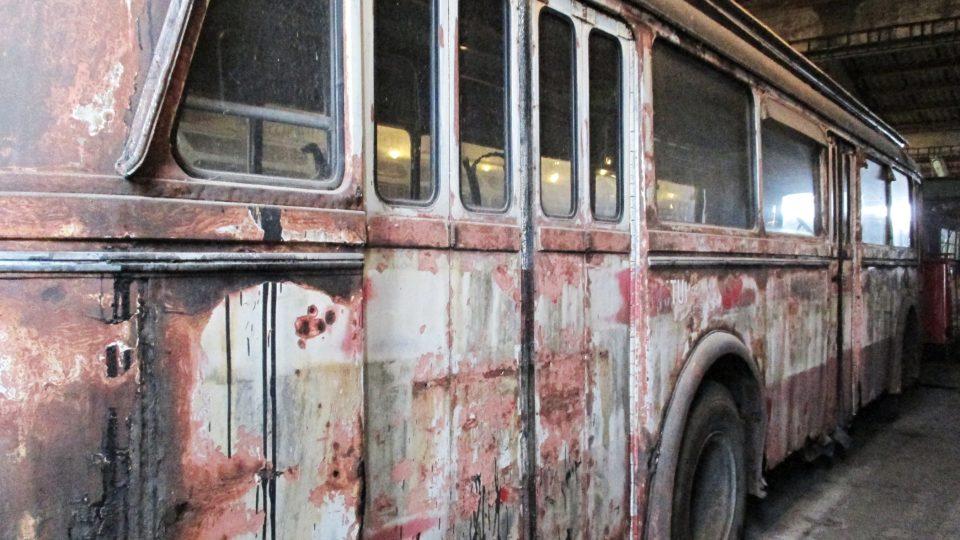 Nejstarší trolejbus je z roku 1952 a vozil lidi v Mariánských Lázních