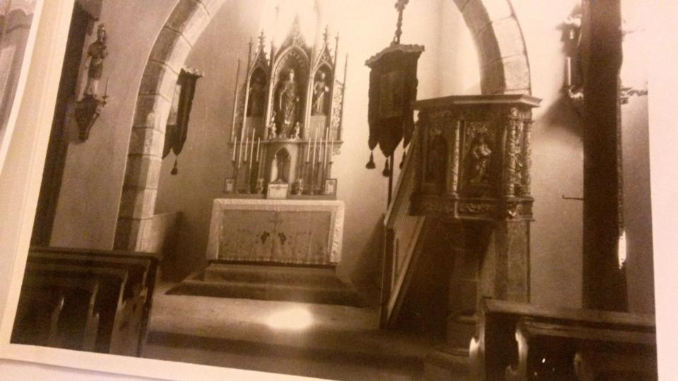 Kazatelna na dobových fotografiích