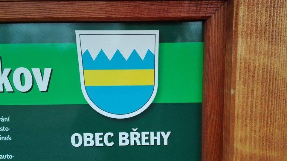 Znak obce Břehy