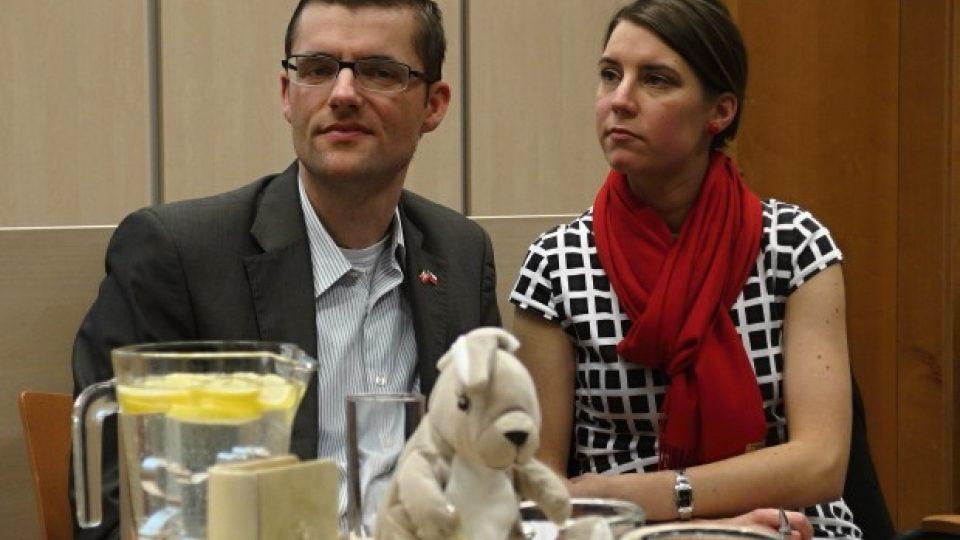 Zástupce dánského velvyslanectví Per Brixen s překladatelkou