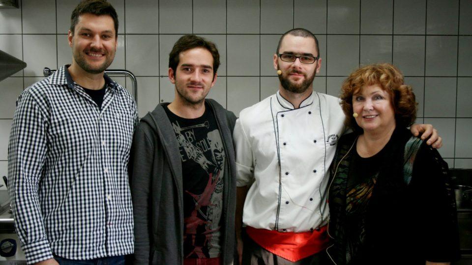 Patrik Rozehnal, Matouš Ruml, Petr Šmrha, Naďa Konvalinková