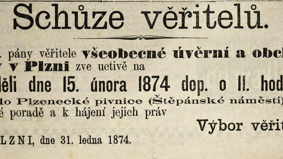 Mezi osobní katastrofy patřil také bankrot a sociální pokles nebo pád. Někdy se z toho ovšem stával problém celospolečenský, jako například za velké (a dnes již pozapomenuté) krize po krachu vídeňské burzy v květnu 1873