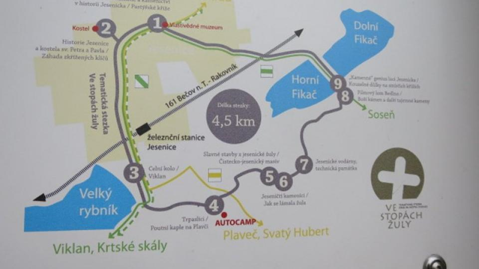 Mapa trasy stezky