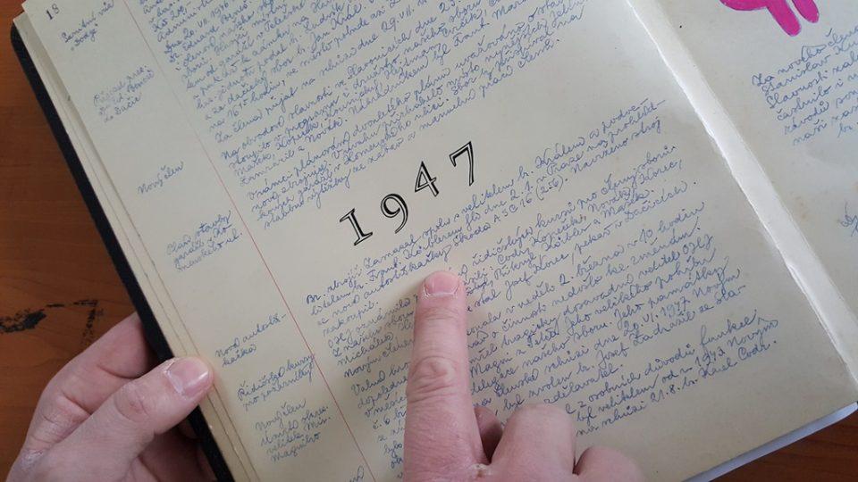 První zápis v kronice o škodovce v kronice sboru dobrovolných hasičů v Dačicích