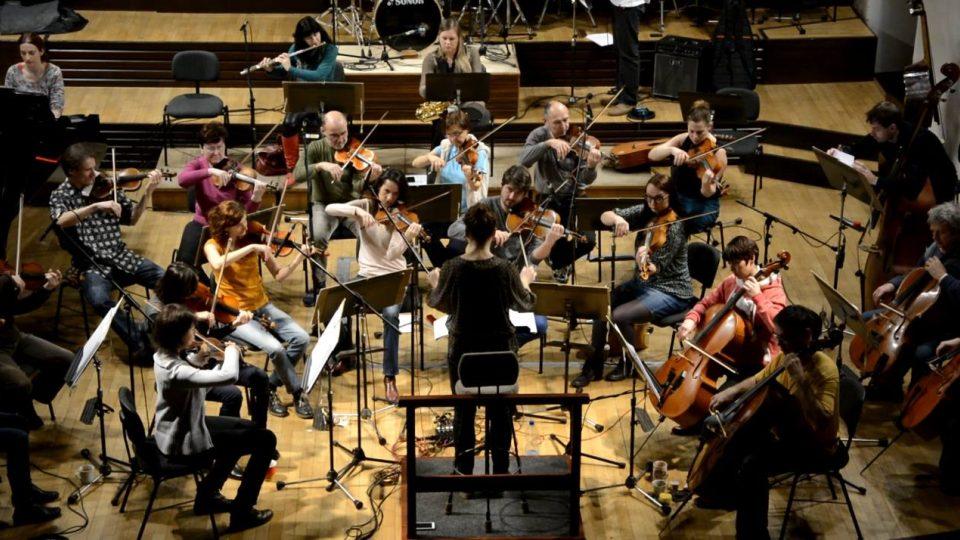 Nahrávání hudby pro muzikál Cyrano s Jihočeskou filharmonií