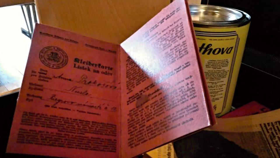 Obsah muzejního kufříku - rok 1938