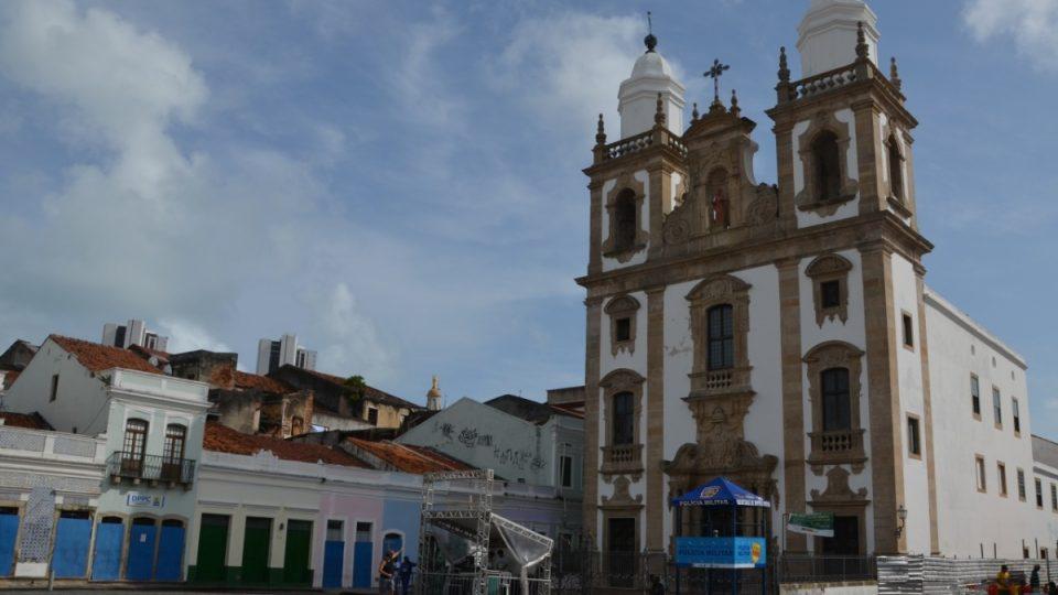 Jedno z náměstí v Recife, kde se koná známý karneval