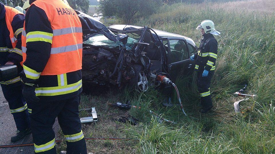 Zásah u dopravní nehody v Lichkově v roce 2014
