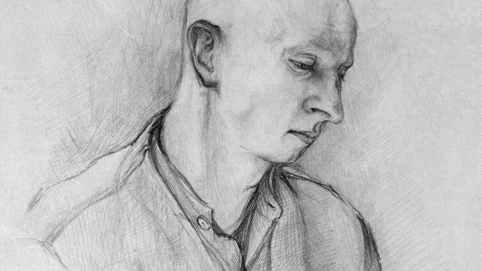 Václav Růžička na kresbě od spoluvězně 1952