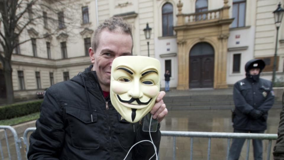 Demonstrace se účastnil i Ivan Bartošek