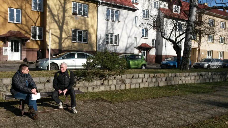 Archivář a historik Radomír Seďa (vlevo) a Stanislav Kavka z Klubu českých turistů