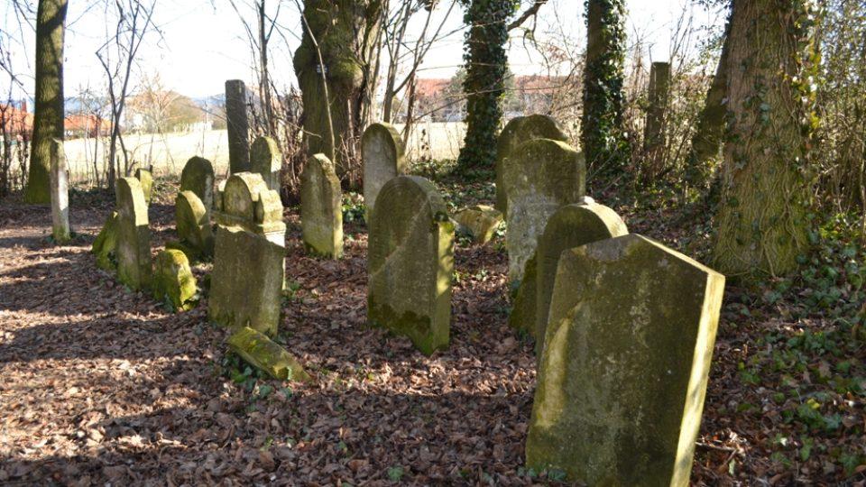 Druhý židovský hřbitov na okraji Jevíčka