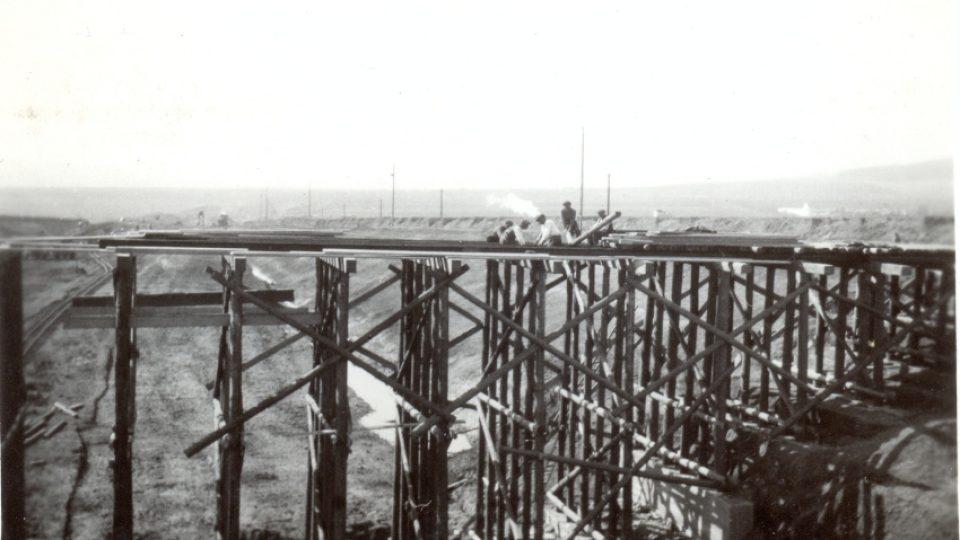 Stavba německé dálnice - archiv Tomáše Jandy
