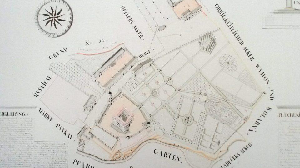 Historický plán areálu