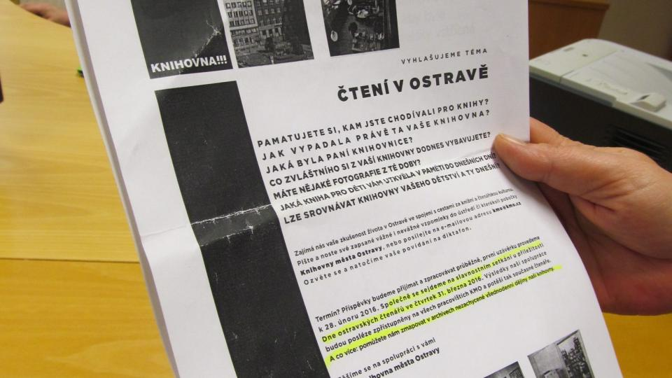 Projekt KMO Paměť Ostravy