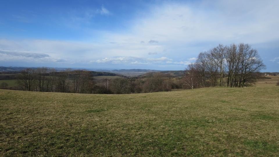 Pohled z Altánu na údolí Českého Meranu