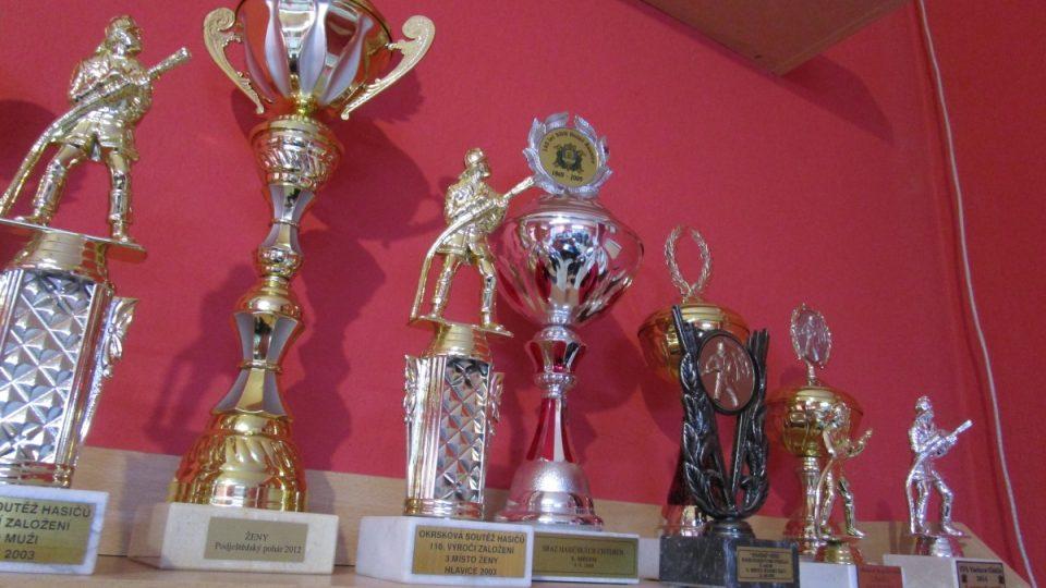 Trofeje českodubských dobrovolných hasičů