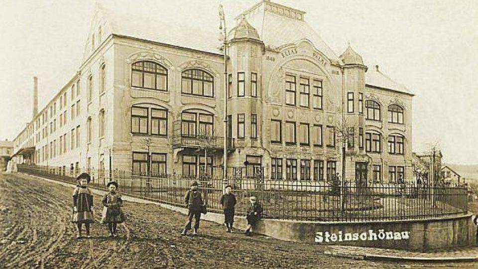 Elias Palme - továrna na lustry v Kamenickém Šenově