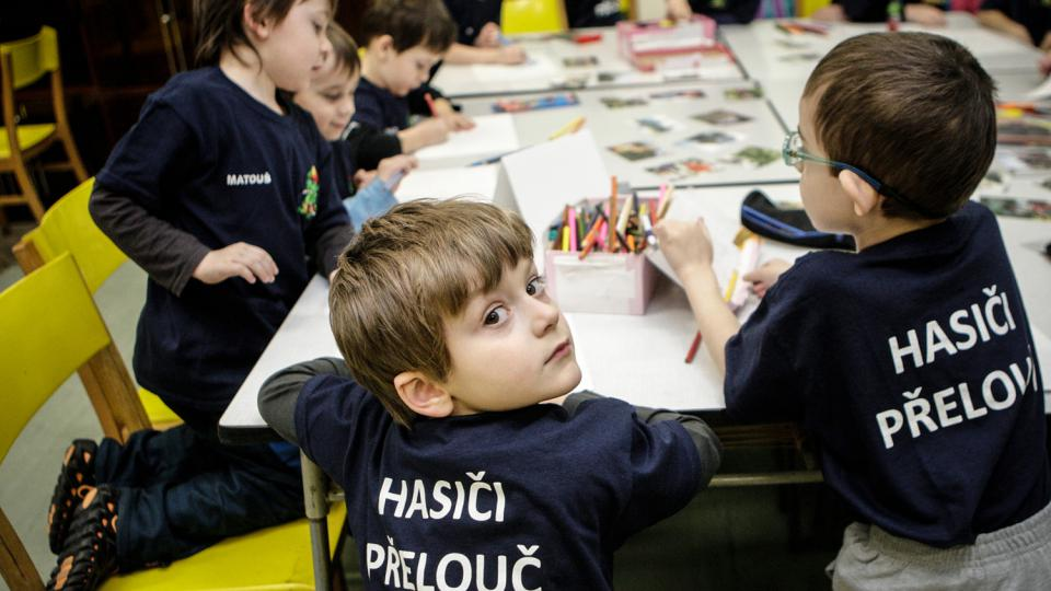 V hasičské přípravce jsou děti od čtyř do šesti let