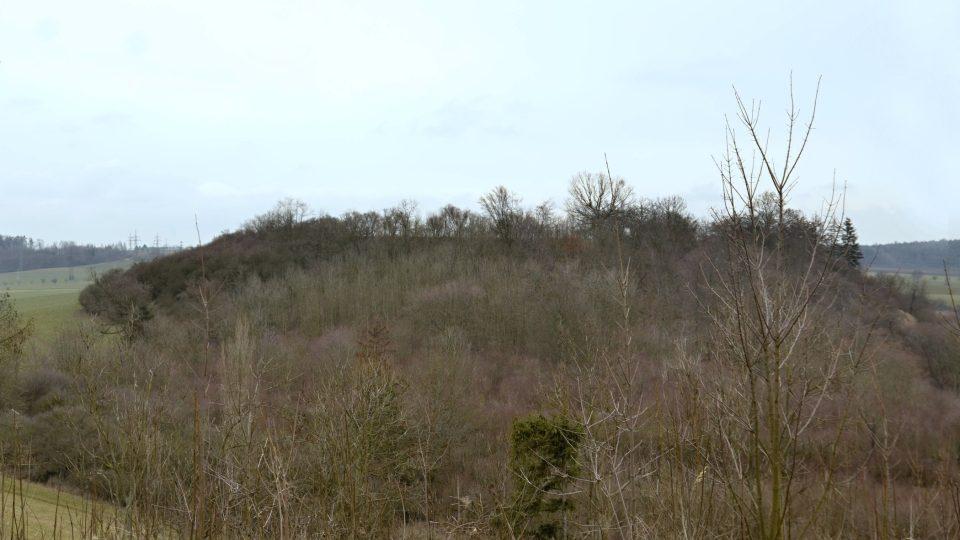 Prašivka, pravěké hradiště, pohled z Chloumku