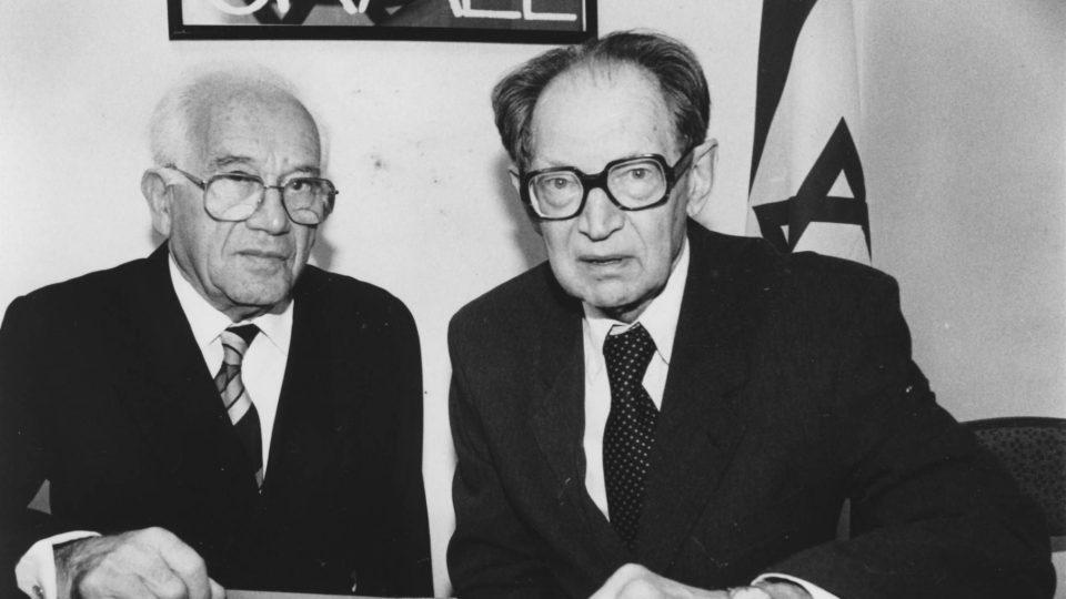 Miloš Hájek a zachráněný Arnošt Hájek