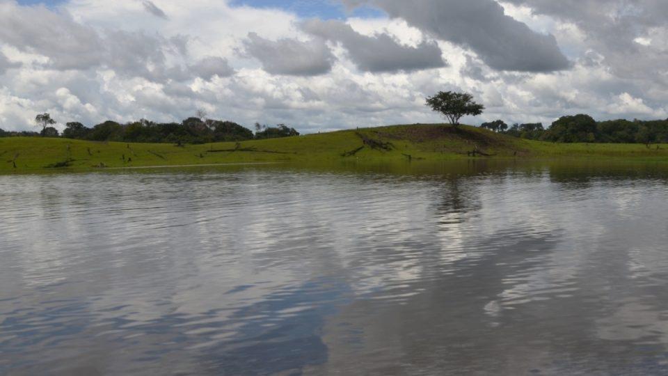 Ne všechnu půdu v Amazonii pokrývá vegetace. Odlesňování třeba kvůli získávání pastvin je tu časté