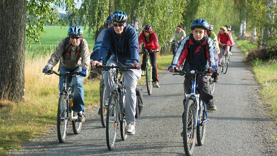 Hasiči z Tisové na cyklovýletě v roce 2008