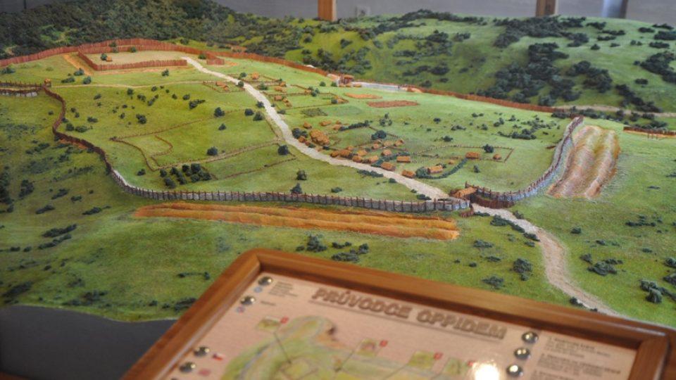 V muzeu je vystaven prostorový model keltského oppida