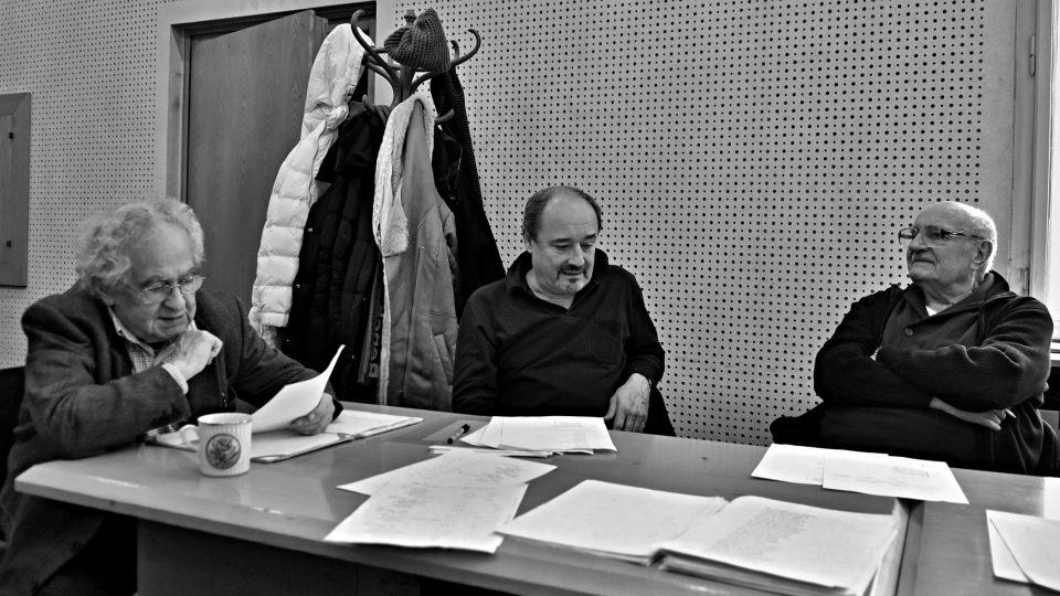 Natáčení hry William Shakespeare: Sen noci svatojánské (Jaroslav Kepka, Viktor Preiss, Josef Somr)