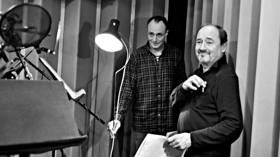 Natáčení hry William Shakespeare: Sen noci svatojánské (Karel Dobrý, Viktor Preiss)