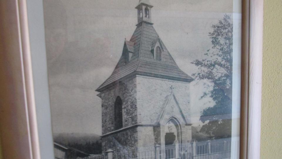Historická fotografie kaple sv. Alžběty