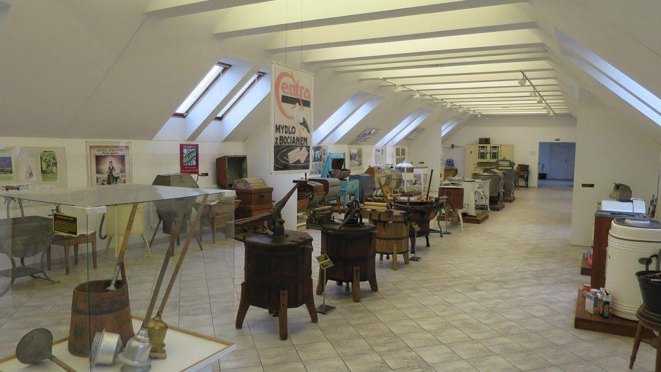 Pohled ho expozice historie praní