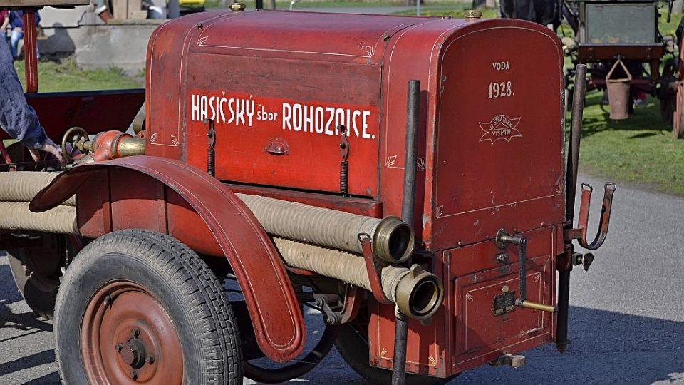 SDH Rohoznice - historické čerpadlo Stratílek z roku 1928