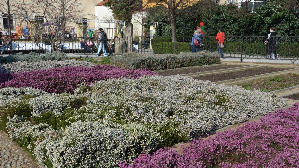 Už ve středověku krášlily zahradu záhony bylinek, květin a zeleniny