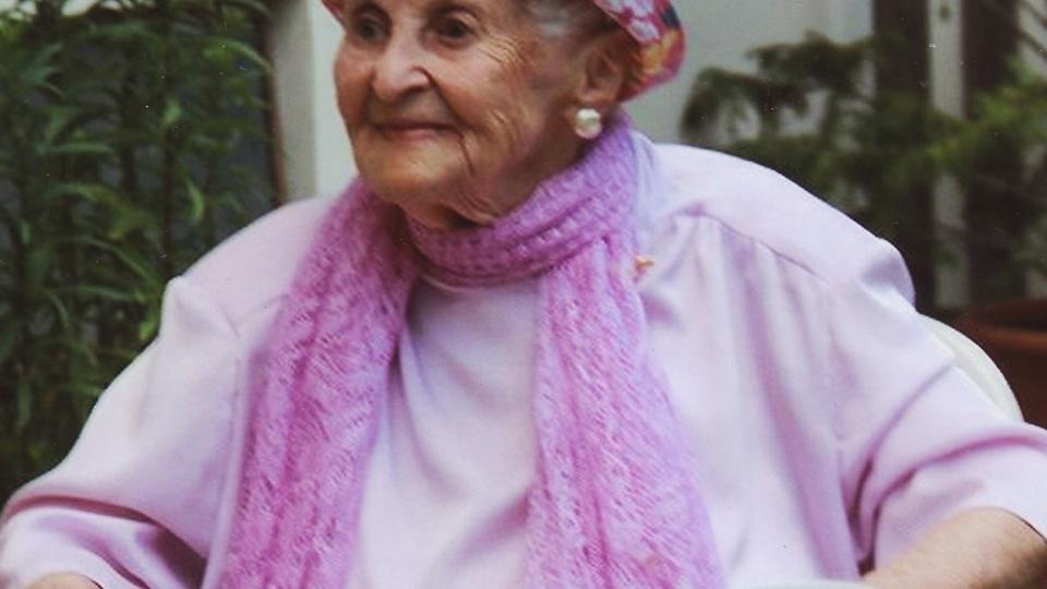 Pavla Weiszová ve věku 100 let