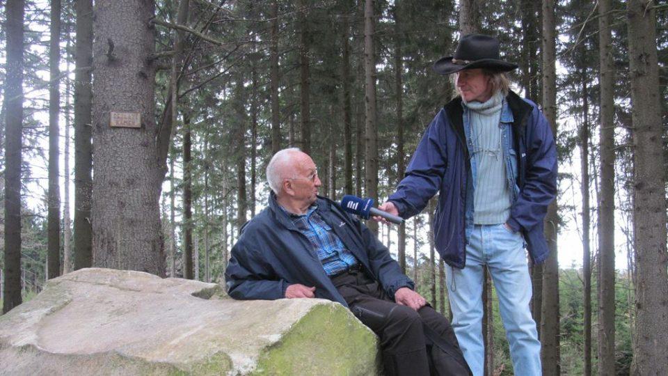 S Janem Mejzlíkem u Sedlatého kamene