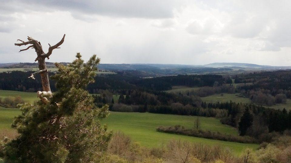 Výhled směrem na Plzeň