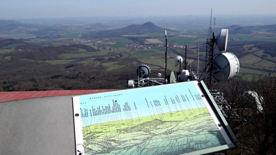 Pohled z vrcholu Milešovky
