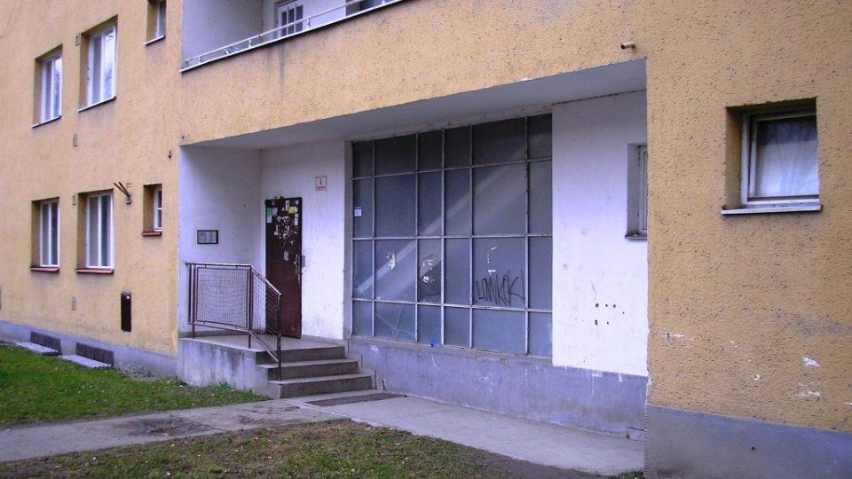 Bydliště Vladimíra Blažky v Zubatého ulici v Brně, kde byl zatčen gestapem