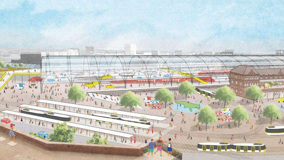 3.místo: Atelier M1 architekti, pohled na nádraží pod Petrovem