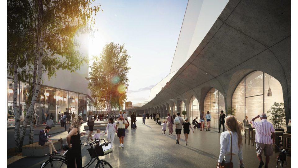 2. místo: Franz Sumnitsch a consequence forma, nový viadukt, komerční ulice mezi terminálem a Tescem