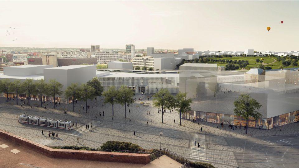2. místo: Franz Sumnitsch a consequence forma, hlavní budova nádraží pod Petrovem