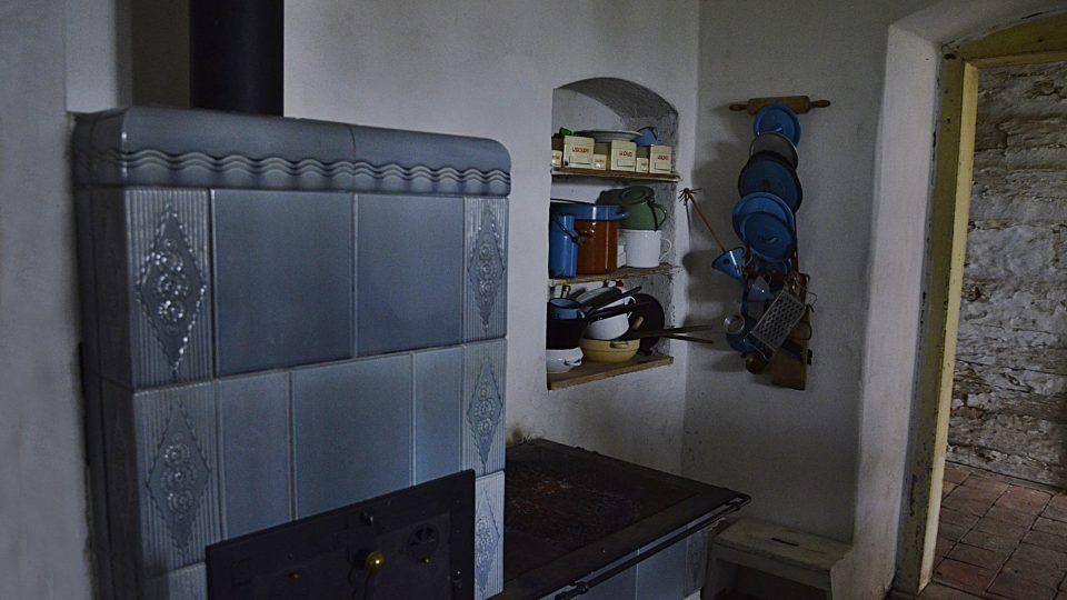 Kuchyň z doby baroka, dříve zde byla černá kuchyň