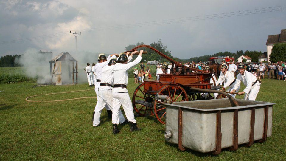 Historická ukázka na oslavách 125 let založení sboru